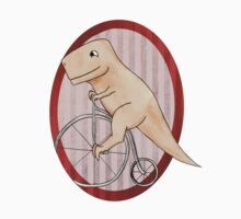 T-rex can ride a penny farthing by Middynighty