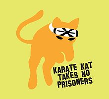 KARATE cat kat takes no prisioners by jazzydevil