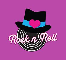 Rock n Roll cute record top hat by jazzydevil