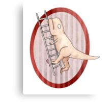 T-rex can't climb a ladder Metal Print