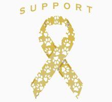 Animal Cancer Awareness Ribbon Kids Clothes