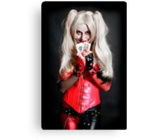 Harley Quinn Cards Canvas Print