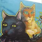 Colorful Cat Mural, Jersey City, New Jersey by lenspiro