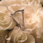 Italian Harp with Roses by Beth Stockdell