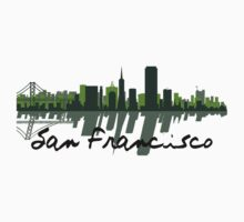 San Francisco California Skyline At Sundown Kids Clothes
