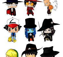 Anime Hatters by artwaste