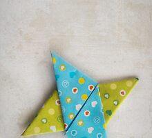 Paper Origami Star by Kim-maree Clark