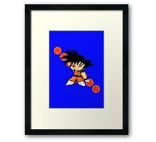 Dancing Goku Framed Print