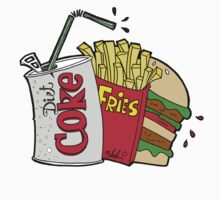 junk food and a diet coke by idezign