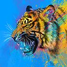 Colorful Tiger Portrait by OlechkaDesign