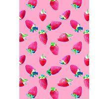 Pink Strawberry Pop Photographic Print