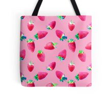 Pink Strawberry Pop Tote Bag