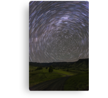 Star Trails, South of Beaudesert, Qld Canvas Print