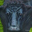 Cow's face close up by Marion Yeo