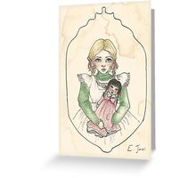 Victorian Child 'Lily' Greeting Card