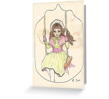 Victorian Child 'Lottie' Greeting Card