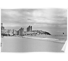 Beach in Busan, South Korea Poster