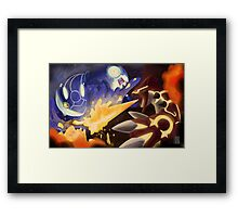 Kyogre and Groudon - New Battle Framed Print