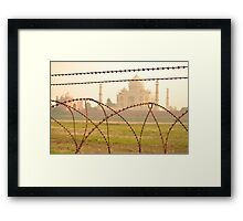 Barbed Wire Love Framed Print