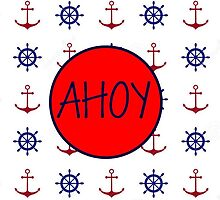 AHOY - Nautical Design by Squeezietees