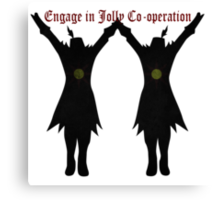 Jolly Co-Operation! Canvas Print