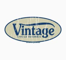 Vintage Cycle Works - oval badge by retrojohn