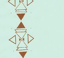 Geometric Design Phone Case by letglitterain
