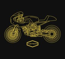 Retro Café Racer Bike - Gold Kids Clothes