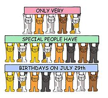 Cats celebrating July 29th Birthday. by KateTaylor
