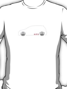 VW GTI MkV Silhouette  (light prnt) T-Shirt