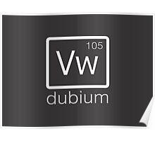 dubium (white) Poster
