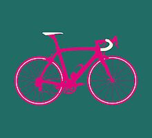 Bike Pop Art (Pink & White) by sher00