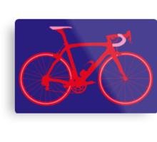 Bike Pop Art (Red & Pink) Metal Print