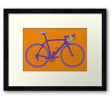 Bike Pop Art (Purple & Blue) Framed Print