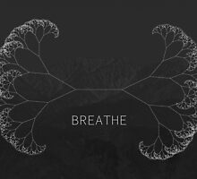 Breathe - Minimal Graphic by kessondalef