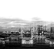 Skyline of Canary Wharf by LucyFreeman