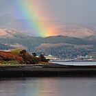 Raasay Rainbow Reflection by Rupert Connor
