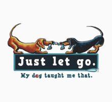 Dachshund Just Let Go by offleashart