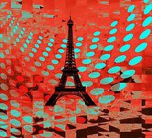 Colours Paris Throw Pillows by Vitta