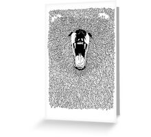 Grizzly - Fineliner Illustration Greeting Card