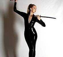 Catsuit & swords by Ian Coyle