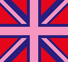 Union Jack Pop Art (Pink, Blue & Red) by sher00