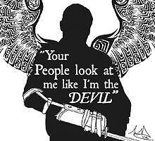 Devil Quote - Merle Dixon by Dezi-Hutchinson