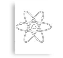 Atom White Canvas Print