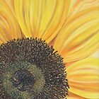 Sunflower close up by Marion Yeo