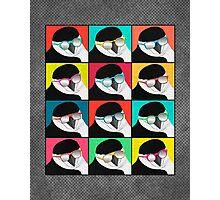 Chinstrap Penguins Pop Art Photographic Print