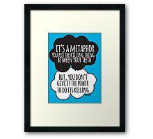It's A Metaphor Cloud Design Framed Print