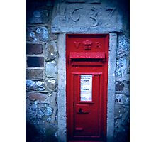 village post box Photographic Print