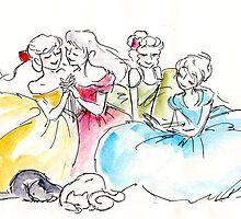 Senshi at Rest by paigeonecomics