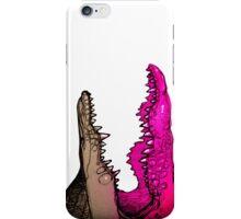 pink croc iPhone Case/Skin